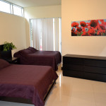 two double beds at second bedroom Azure Luxury Suites Miami Beach