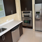 Fully equipped kitchen at Azure Luxury Suites Miami Beach